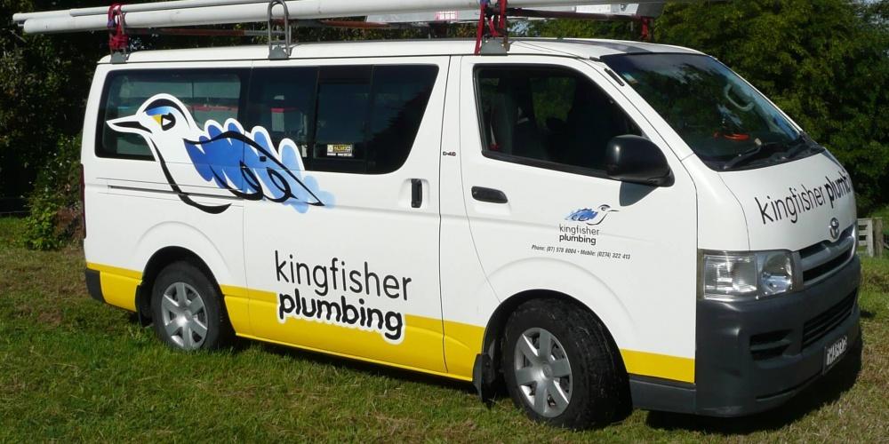 Kingfisher Plumbing Van
